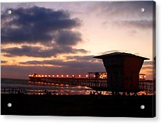 Acrylic Print featuring the photograph Oceanside Pier by Christopher Woods