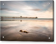Acrylic Print featuring the photograph Oceanside Pier Pastels by Alexander Kunz