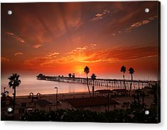 Oceanside Sunset 9 Acrylic Print