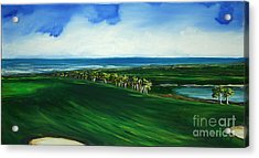 Oceon Hammock Fairway Acrylic Print by Michele Hollister - for Nancy Asbell