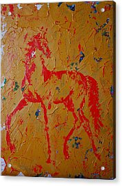 Ochre Horse Acrylic Print