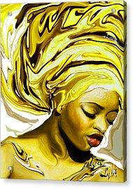 Ochun Ede Acrylic Print by Liz Loz