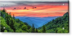 Oconaluftee Valley Sunrise Acrylic Print