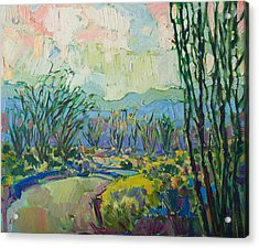 Acrylic Print featuring the painting Ocotillo Forest by Erin Hanson