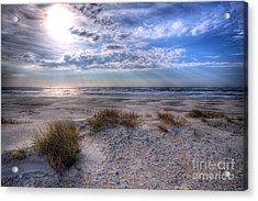 Ocracoke Winter Dunes II Acrylic Print by Dan Carmichael