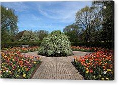 Octagon Garden At Cantigny Park Acrylic Print by Rosanne Jordan