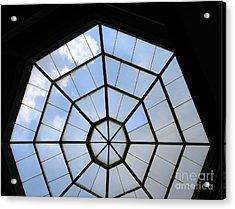 Octagon Skylight Acrylic Print by Yali Shi