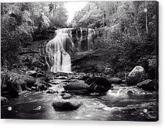 October At Bald River Falls Sepia Acrylic Print