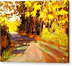 October Acrylic Print by Brian Simons