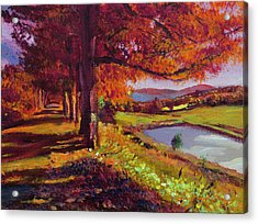 October Country Road - Plein Air Acrylic Print