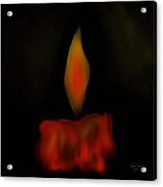 October Flame Acrylic Print by Kevin Caudill