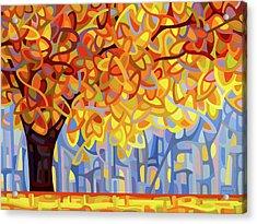 October Gold Acrylic Print by Mandy Budan