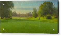 October Morning Golf Acrylic Print