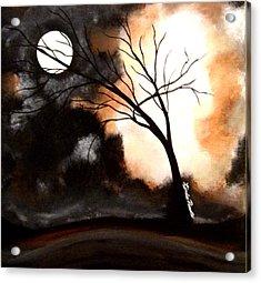 October Night 4 Acrylic Print by Linda Powell