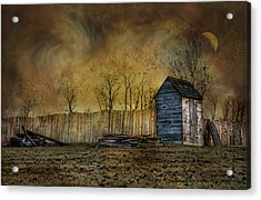 October Outhouse Acrylic Print