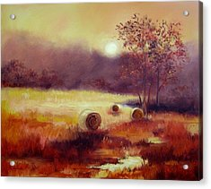 October Pasture Acrylic Print by Ginger Concepcion