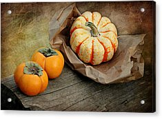 October Produce Acrylic Print by Diana Angstadt
