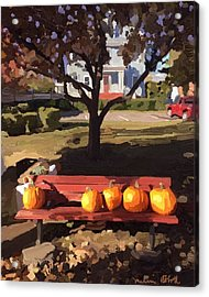 October Pumpkins Acrylic Print
