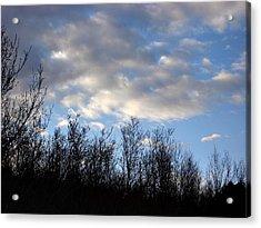 October Skies Acrylic Print by Marilynne Bull