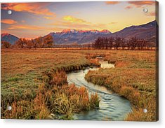October Sunrise In Heber Valley. Acrylic Print