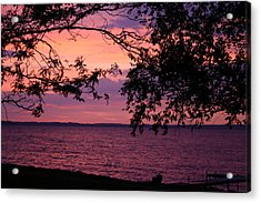 Acrylic Print featuring the photograph October Sunrise On Winnebago by Jack G  Brauer