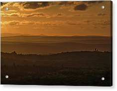 October Sunset In Acadia Acrylic Print