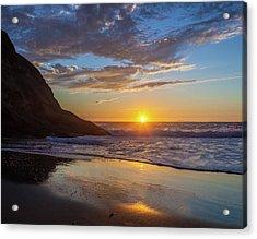 October Sunset Strands Beach Acrylic Print