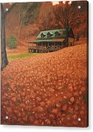 October Weekend Acrylic Print by Suzanne Shelden