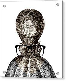 Octopus Head Acrylic Print by Frank Tschakert
