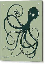 Octopus Acrylic Print by Jazzberry Blue