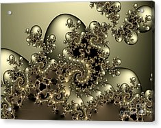 Acrylic Print featuring the digital art Octopus by Karin Kuhlmann