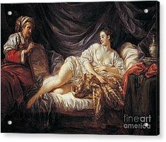 Odalisque  Turkish Slave Acrylic Print by Jean-Baptiste Le Prince