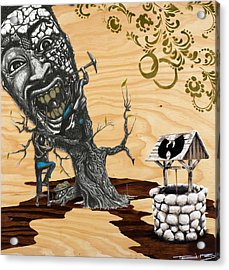 Odb Tree Mining Down By The Wu-tang Well Acrylic Print