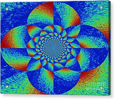 Oddly Mandala Acrylic Print by Chuck Taylor