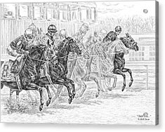 Odds Are... - Tb Race Horse Print Acrylic Print by Kelli Swan