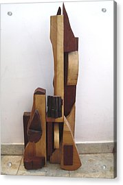 Acrylic Print featuring the sculpture Ode To A Guitar by Esther Newman-Cohen