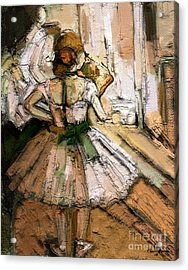 Acrylic Print featuring the painting Ode To Degas by Carrie Joy Byrnes