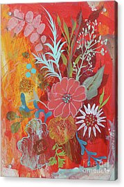 Acrylic Print featuring the painting Ode To Spring by Robin Maria Pedrero