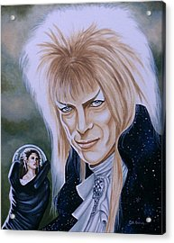 Acrylic Print featuring the painting Ode To The Goblin King by Al  Molina