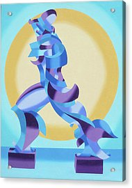 Ode To Umberto Boccioni Acrylic Print by Mark Webster