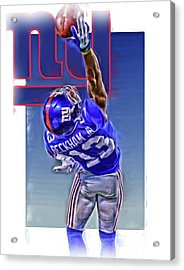 Odell Beckham Jr New York Giants Oil Art 2 Acrylic Print