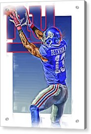 Odell Beckham Jr New York Giants Oil Art 3 Acrylic Print