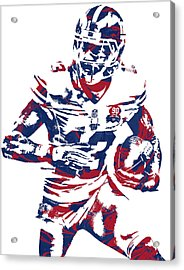 Odell Beckham Jr New York Giants Pixel Art 6 Acrylic Print