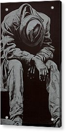 Odis Acrylic Print by Lamark Crosby