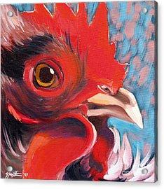 Oeil De Poulet Acrylic Print by Sandra Smith-Dugan