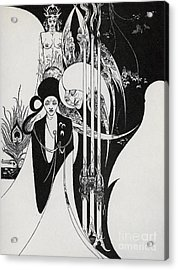 Of A Neophyte And How The Black Art Was Revealed Unto Him Acrylic Print by Aubrey Beardsley