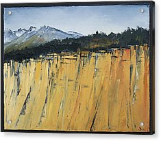 Of Bluff And Mountain Acrylic Print by Carolyn Doe