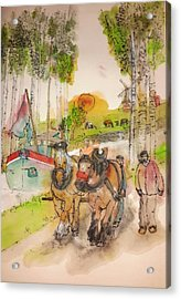 Of Clogs And Windmills Album  Acrylic Print by Debbi Saccomanno Chan