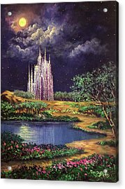 Of Glass Castles And Moonlight Acrylic Print