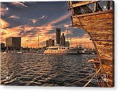 Off The Port Stern Acrylic Print